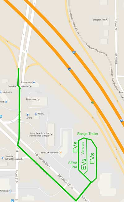 event directions and parking map
